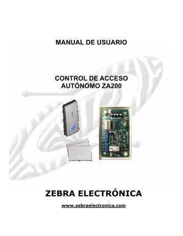 MANUAL CONTROLADOR ZA200.pdf - Zebra Electronica