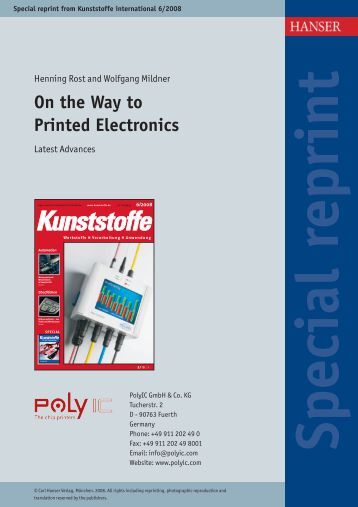 On the Way to Printed Electronics - PolyIC