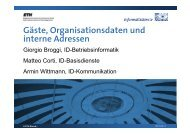 Gäste, Organisationsdaten und interne Adressen - ITEK - ETH Zürich