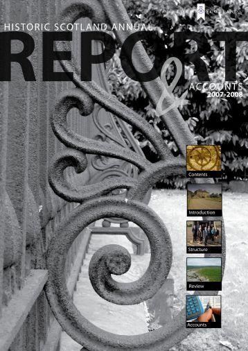 Annual Report & Accounts 2007-2008 - Historic Scotland