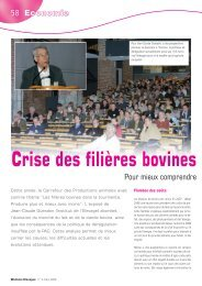 Crise des filières bovines - Association Wallonne de l'Elevage