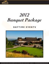Daytime Events 2012 - Westwood Plateau Golf and Country Club