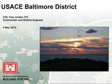 US Army Corps of Engineers Bay Restoration Priorities