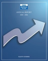 (Equity & Balanced Funds) for the year 2005 - Tata Mutual Fund