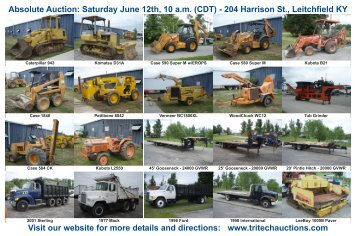 Absolute Auction: Saturday June 12th, 10 am (CDT)