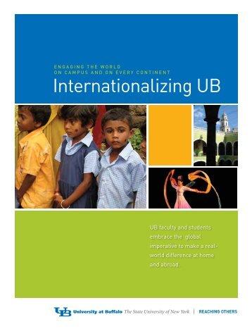 Internationalizing UB: Downloadable Brochure - University at Buffalo
