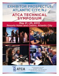 2013 ATCA Technical Symposium Exhibitor Prospectus - Air Traffic ...