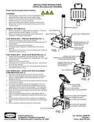 Elx HSG Installation Instructions - Hubbell Industrial Lighting