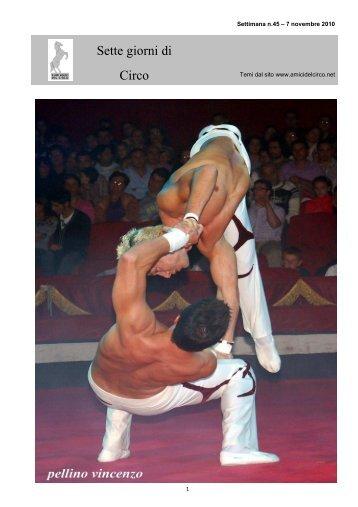 7 Giorni di Circo n.45 - Tournée