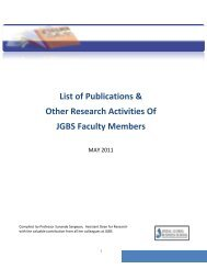 List of Publications & Other Research Activities Of - Jindal Global ...