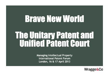 Wragge & Co - Managing Intellectual Property