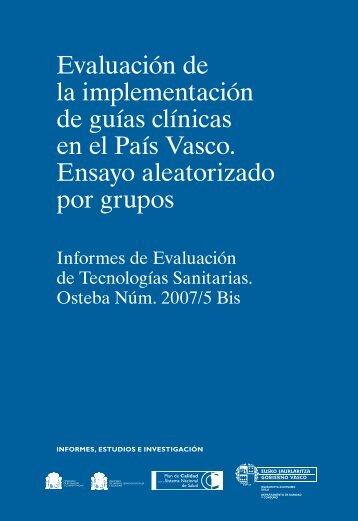 Evaluación de la implementación de guías clínicas en ... - Euskadi.net
