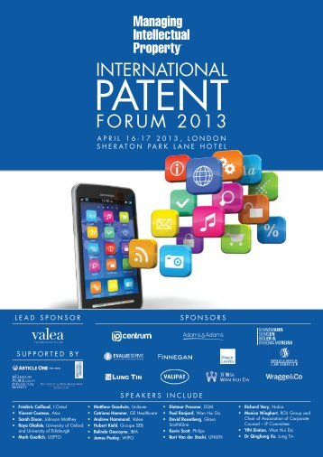 Download the PDF version here - Managing Intellectual Property