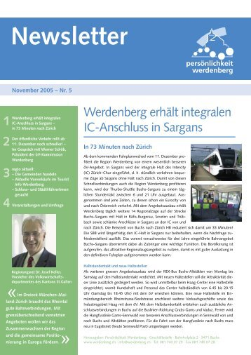 November 2005 - Region Werdenberg