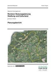 Planungsbericht - Gemeinde Mettauertal