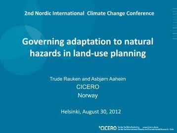 Governing adaptation to natural hazards in land-use planning