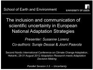 Consideration of uncertainty in European National Adaptation ...