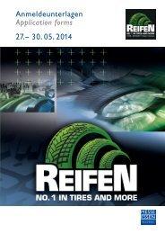 Anmeldeunterlagen Application forms 27.– 30. 05 ... - Reifen-Messe