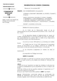 LE CONSEIL COMMUNAL,, - Bernissart