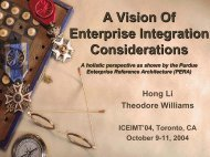A Vision of Enterprise Integration Considerations - CiteSeerX