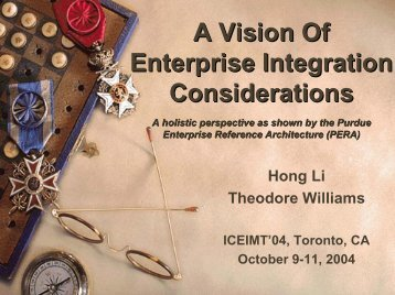 A Vision of Enterprise Integration Considerations - CiteSeerX