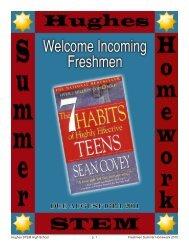 p. 1 Hughes STEM High School Freshmen Summer Homework 2010