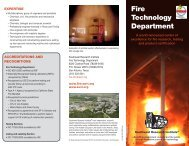 Fire Technology Department - Southwest Research Institute