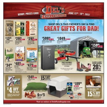 20% 15 % OFF - Del's - Feed And Farm Supply