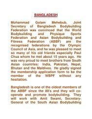 bangladesh joins wbpf and returns to the abbf family