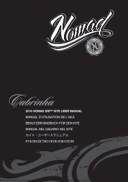2010 nomad ids™ kite user manual manuel d'utilisation ... - Cabrinha