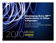 Developing Brew MP™ Applications in Other Languages - Uplinq