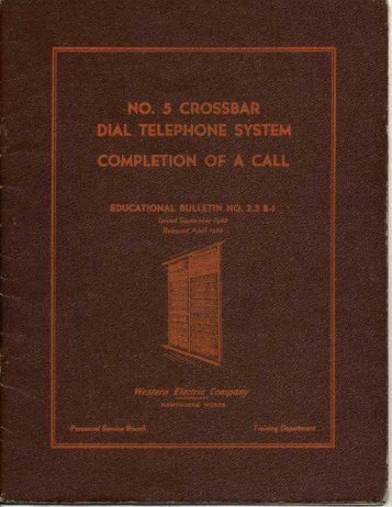 Number 5 Crossbar Dial Telephone System
