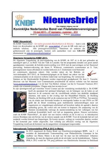 013 knbf mei 2011 - Eerste Kerkraadse Philatelisten Vereniging