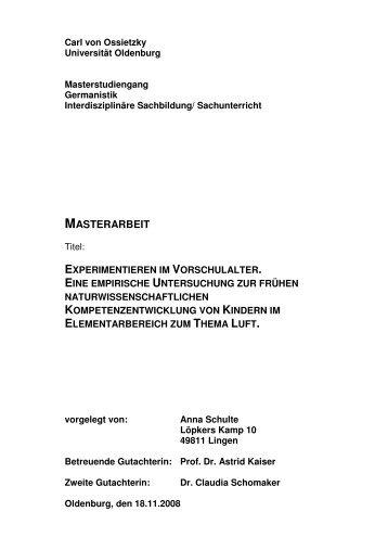 Download Kinderforschung Carl Von Ossietzky Universität