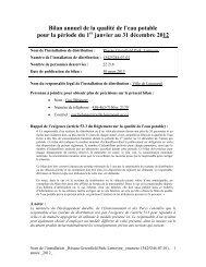 Bilan annuel 2012 Greenfield Park - Ville de Longueuil