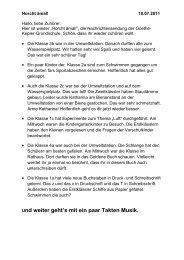 18. Juli 2011 - Goethe-Kepler-Grundschule
