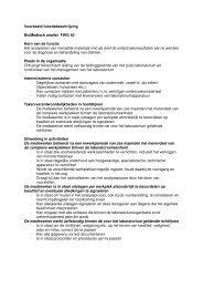 Voorbeeld functiebeschrijving BioMedisch analist FWG 40 Kern van ...