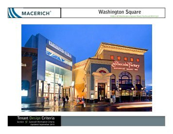 Washington Square General Information Criteria Manual - Macerich