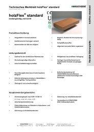 holzFlex standard - Homatherm