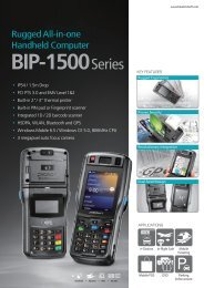 rugged all-in-one handheld computer, BIP-1500 Series - SDG Systems