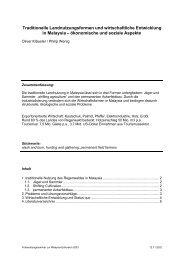 Traditionelle Landnutzungsformen und wirtschaftliche Entwicklung in