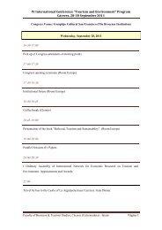 """Programa del IV Congreso Internacional """"Turismo y Medio Ambiente"""""""