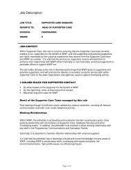 Job Description - WWF UK