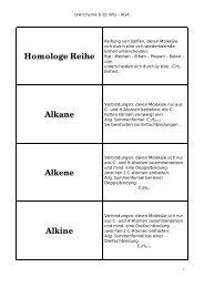 Homologe Reihe Alkane Alkene Alkine - Holbein-Gymnasium