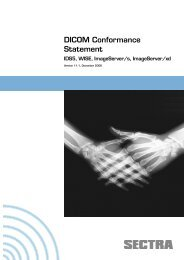 DICOM Conformance Statement - Sectra
