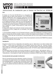 Instrucciones de instalación para el Gestor de Fan-Coil art ... - Simon