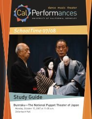 SchoolTime 07/08 Study Guide - Cal Performances - University of ...