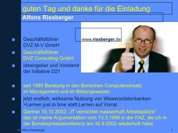 Vortrag als .pdf - Alfons Rissberger