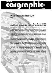 Press release number 13/10 - Cargraphic