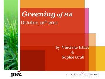 The Greening of HR